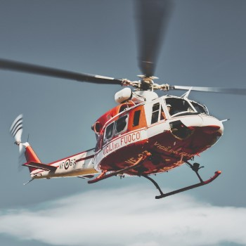 Commercial Helicopter in Flight