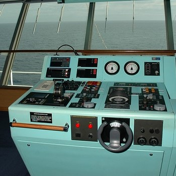 Instrument Panel on a Naval Ship
