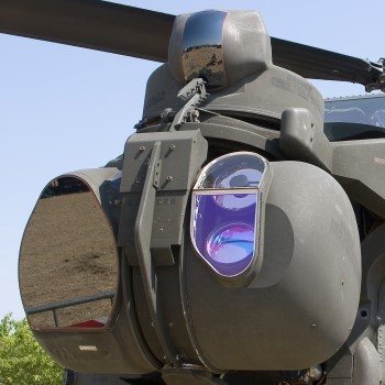 Laser Targeting System on Military Helicopter