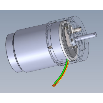 Motorized Potentiometer CAD Transparent