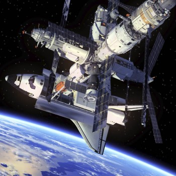 Docked Space Shuttle